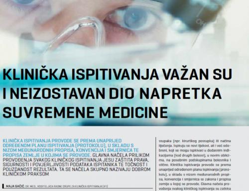 Klinička ispitivanja važan su i neizostavan dio napretka suvremene medicine