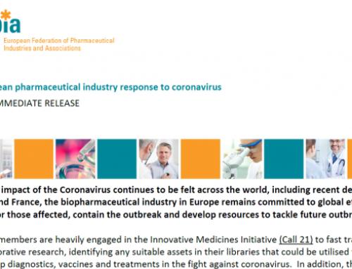 Odgovor europske inovativne farmaceutske industrije na koronavirus