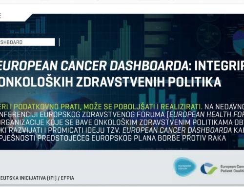 Načela European Cancer Dashboarda: integriranje dionika onkoloških zdravstvenih politika